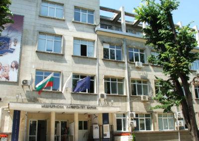 Haupteingang der Med. Uni Varna